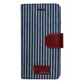6572b97ccf オウルテック iPhone6s Plus/6 Plus 5.5インチ 手帳型 ケース ネイビー ストライプ レザー スタンド機能