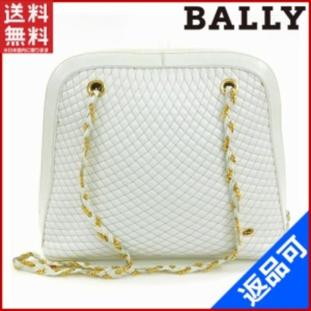 1b328d505e67 バリー バッグ BALLY ショルダーバッグ キルティング ホワイト 即納 【中古】 X12176