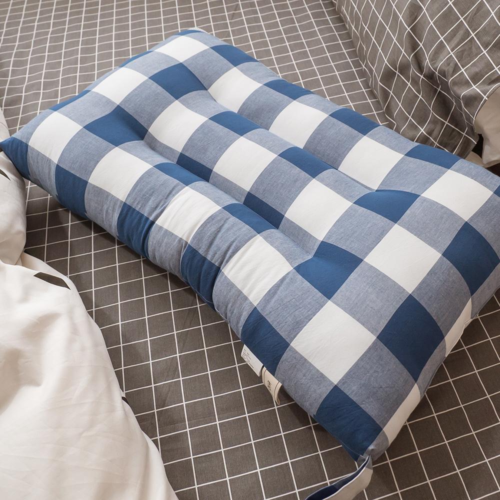 格紋水洗枕頭 74cmX48cm (可水洗、超透氣不悶熱、支撐性佳)【棉床本舖】