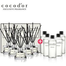 【Defuser ck078]ココドール本品200ml 5個+リフィル液200ml 5個ディフューザーセット韓国産ディフューザー美しい香り