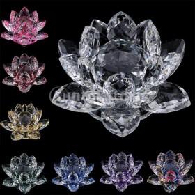 仏教クリスタルガラスロータスフラワーモデル風水家の装飾