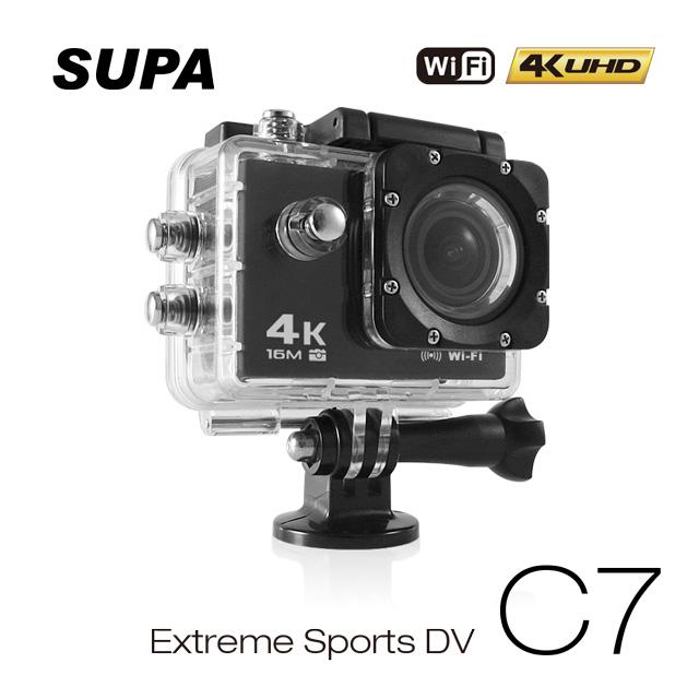 贈32卡-速霸 C7 4K/1080P超高解析度 WiFi 極限運動 機車防水型行車記錄器