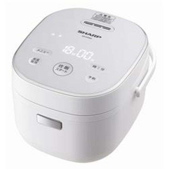 ジャー炊飯器 「黒厚釜&球面炊き」 3合 ホワイト KS-CF05A-W