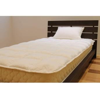 ルナール 軽くて柔らかダウン敷パッド シングルサイズ 約 105×215cm