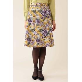 NATURAL BEAUTY / 《Purpose》ジャガードグランドフラワープリントスカート