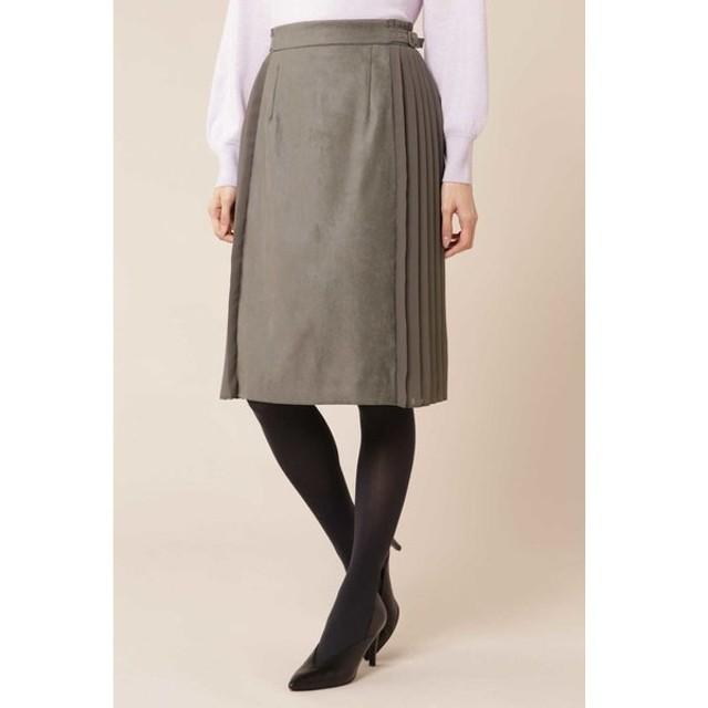NATURAL BEAUTY / [TV着用]エルモザスエードサイドプリーツフレアスカート