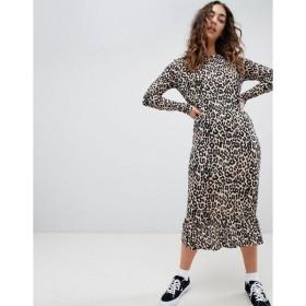 デイジーストリート ワンピース レディース Daisy Street midaxi smock dress in leopard print Leopard print