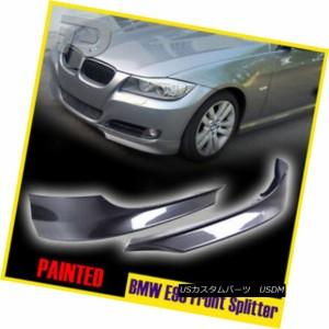 BMW 3 SERIES E90 SEDAN SALOON OE Type FRONT LIP SPLITTER painted 300 White
