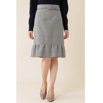 NATURAL BEAUTY / ◆グレンチェックペプラムスカート