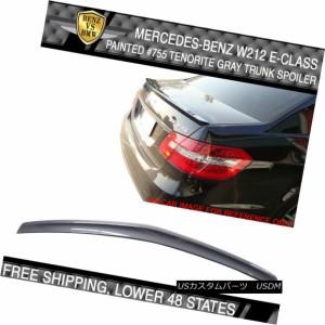Fits 10-16 Benz E-Class W212 Sedan AMG Trunk Spoiler Painted #755 Tenorite Gray