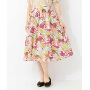 Jocomomola / ホコモモラ Ensonandoプリント フレアスカート
