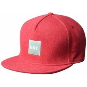 HUF Denim Box Logo Snapback Hat Cap Red キャップ 送料無料