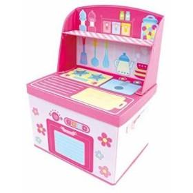 U-company ままごと収納ボックス キッチン 遊べて収納できるボックス[4525154147624](本体サイズ:幅40×奥行31×高さ55cm)