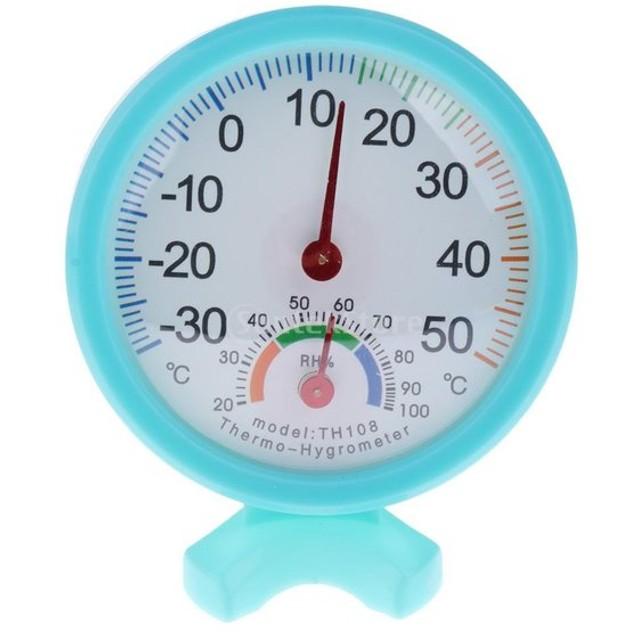丸い 爬虫類箱 温度湿度計 温度計 湿度計 青