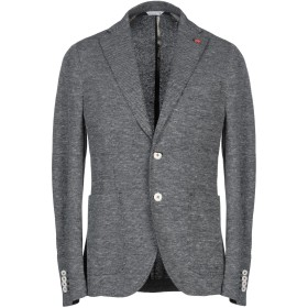 《期間限定セール中》MANUEL RITZ メンズ テーラードジャケット ブルーグレー 46 コットン 70% / 麻 30%