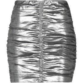《期間限定 セール開催中》PATRIZIA PEPE レディース ミニスカート 鉛色 42 麻 52% / ナイロン 26% / ポリエステル 15% / ポリウレタン 7%
