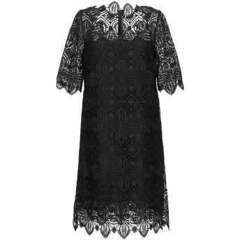 《セール開催中》ERMANNO SCERVINO レディース ミニワンピース&ドレス ブラック 44 ポリエステル 100% / ナイロン