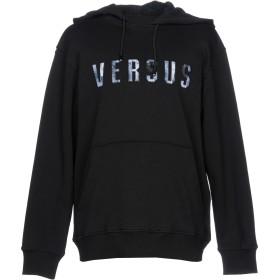 《期間限定 セール開催中》VERSUS VERSACE メンズ スウェットシャツ ブラック XL コットン 100% / ナイロン / ポリエステル