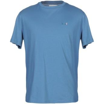 《9/20まで! 限定セール開催中》VI.E SIX EDGES メンズ T シャツ アジュールブルー L コットン 100%