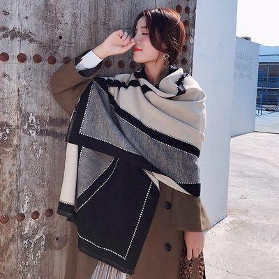 新款時尚棉質柔軟絲巾圍巾 文藝空調披肩 披肩圍巾99