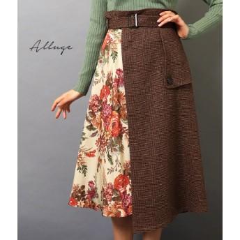 【セール開催中】ANAP(アナップ)ゴブランブーケ柄トレンチスカート
