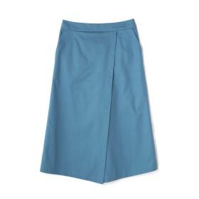 ヒューマンウーマン HUMAN WOMAN ピンポイントステッチスカート ブルー S【税込10,800円以上購入で送料無料】
