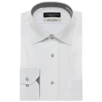 【ヒロミチナカノ】コットンストレッチドレスシャツ(メンズ) シロB