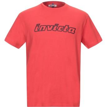 《セール開催中》INVICTA メンズ T シャツ レッド XXL コットン 100%