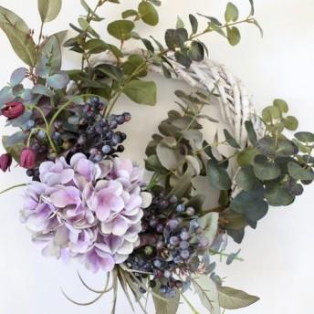 Creema限定 紫陽花リース パープル