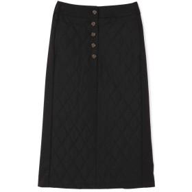 ローズバッド ROSE BUD キルティングタイトスカート ブラック 【税込10,800円以上購入で送料無料】
