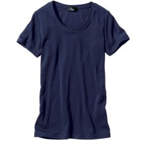 綿100%半袖クルーネックTシャツ (大きいサイズレディース)Tシャツ・カットソー