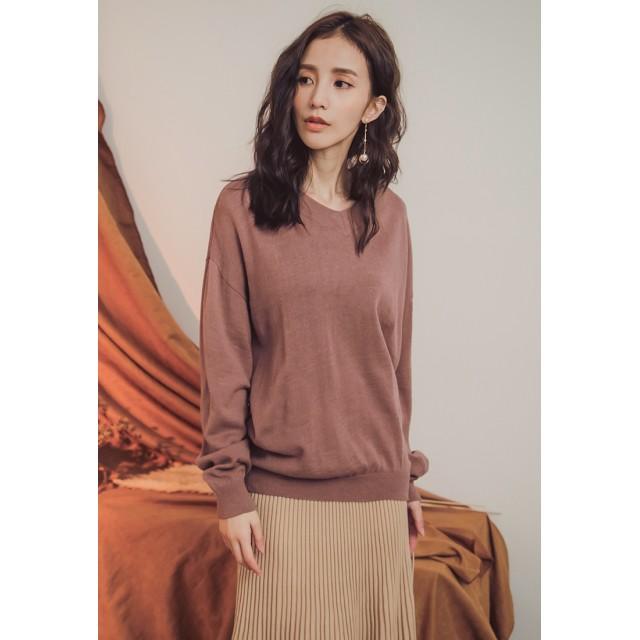 090af3e5f8abd ニット・セーター - Toki Choi 【KODZ】大Vネック羊毛デザインニットトップス