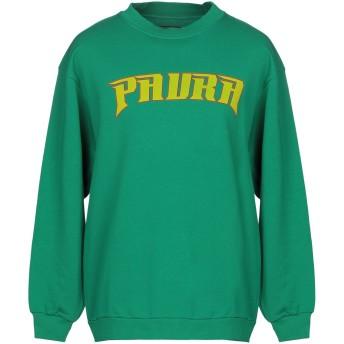 《セール開催中》PAURA メンズ スウェットシャツ グリーン M コットン 100%