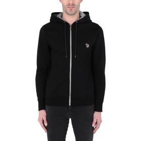 《期間限定セール開催中!》PS PAUL SMITH メンズ スウェットシャツ ブラック S オーガニックコットン 100%