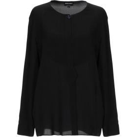 《期間限定 セール開催中》GIORGIO ARMANI レディース シャツ ブラック 38 シルク 100%