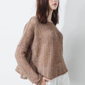 ラフ織りマイクロアルパカセーター