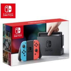 【中古即納】[本体][Switch]Nintendo Switch(ニンテンドースイッチ) Joy-Con(L) ネオンブルー/(R) ネオンレッド(HAC-S-KABAA)(20170303)