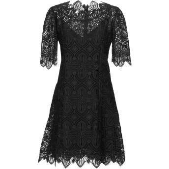 《セール開催中》ERMANNO SCERVINO レディース ミニワンピース&ドレス ブラック 40 ポリエステル 100% / ナイロン