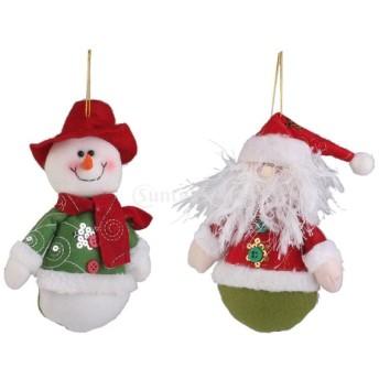 ノーブランド品クリスマス 雪だるま クリスマスツリー クリスマス 飾り ぶら下げ 吊り