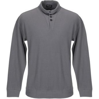 《期間限定セール開催中!》GIORGIO ARMANI メンズ ポロシャツ 鉛色 48 コットン 100%