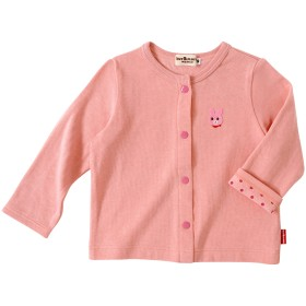 ミキハウス 【アウトレット】ビーンズくん&キャビットちゃん 接結天竺カーディガン ピンク