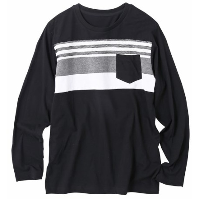 長袖切替デザインTシャツ Tシャツ・カットソー