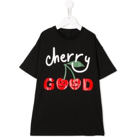 Stella McCartney Kids Cherry Good Tシャツワンピース - ブラック