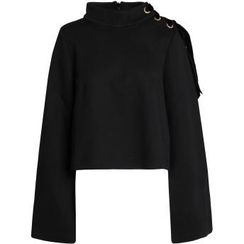 《9/20まで! 限定セール開催中》MOTHER OF PEARL レディース スウェットシャツ ブラック XS コットン 50% / レーヨン 50%