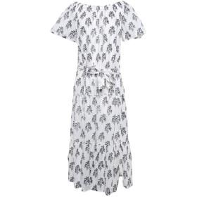 《期間限定セール開催中!》A.L.C. レディース 7分丈ワンピース・ドレス ホワイト 6 コットン 100%