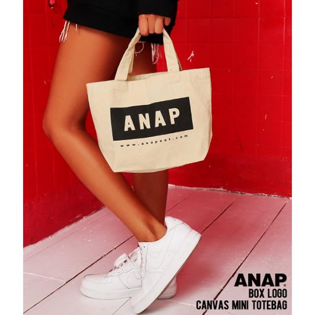 【セール開催中】ANAP(アナップ)ANAPロゴキャンバスミニトートバッグ