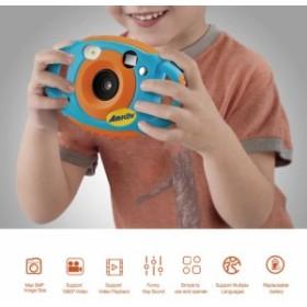 キッズデジタルカメラ 500万画素写真撮影 1080P ビデオ撮影 1.77インチ液晶画面 テレビ出力