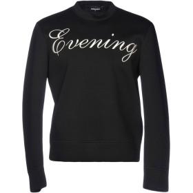 《期間限定 セール開催中》DSQUARED2 メンズ スウェットシャツ ブラック S 100% レーヨン ポリウレタン