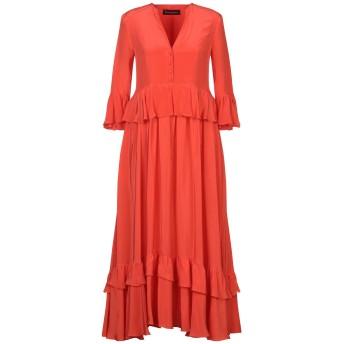 《セール開催中》ROSSELLA JARDINI レディース ロングワンピース&ドレス オレンジ 40 シルク 100%