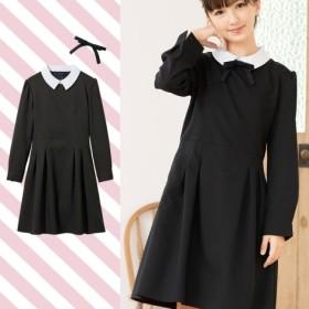 【卒業式】【もっとゆったりサイズ】衿付ワンピース(女の子 子供服 ジュニア服) キッズフォーマル